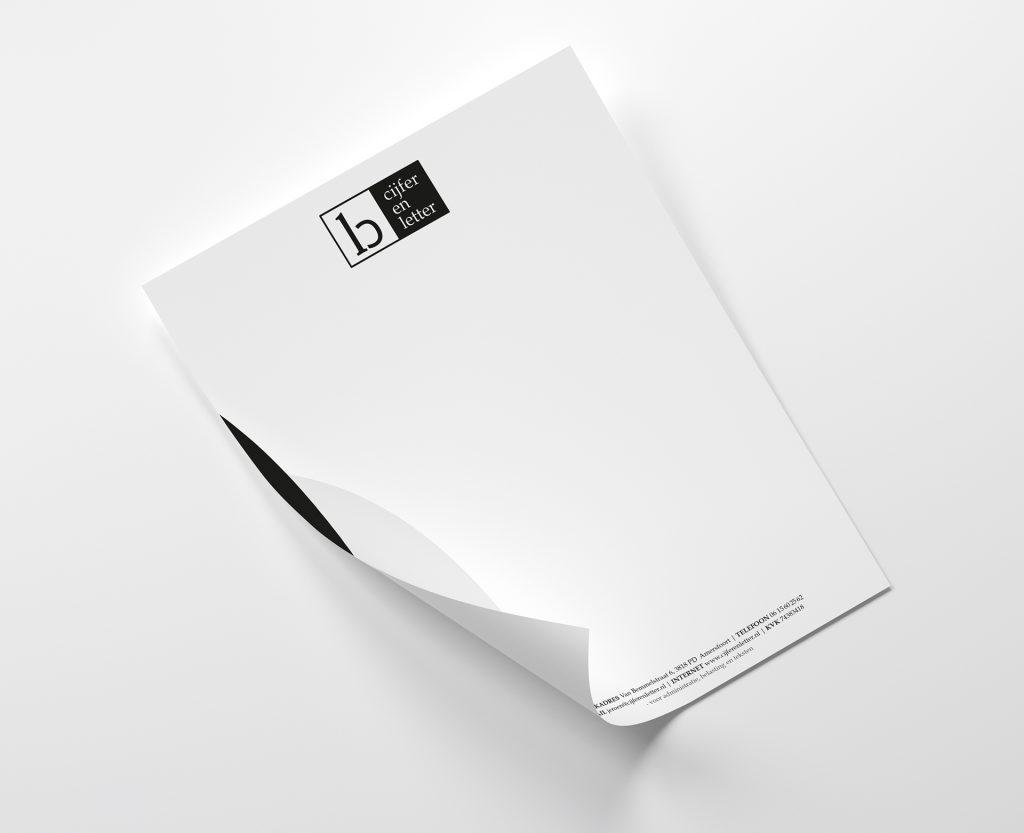 cijferenletter briefpapier voorbeeld